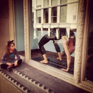 Urdhva Danurasana with a mini audience at my lululemon demo.