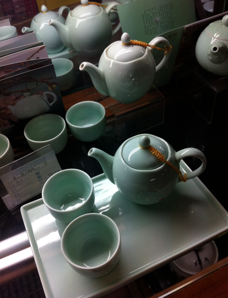 Baby blue tea pots