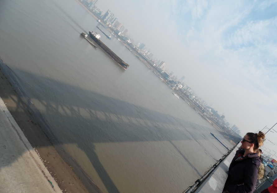 "Crossing The ""Wuhan Yangtze Great Bridge"""
