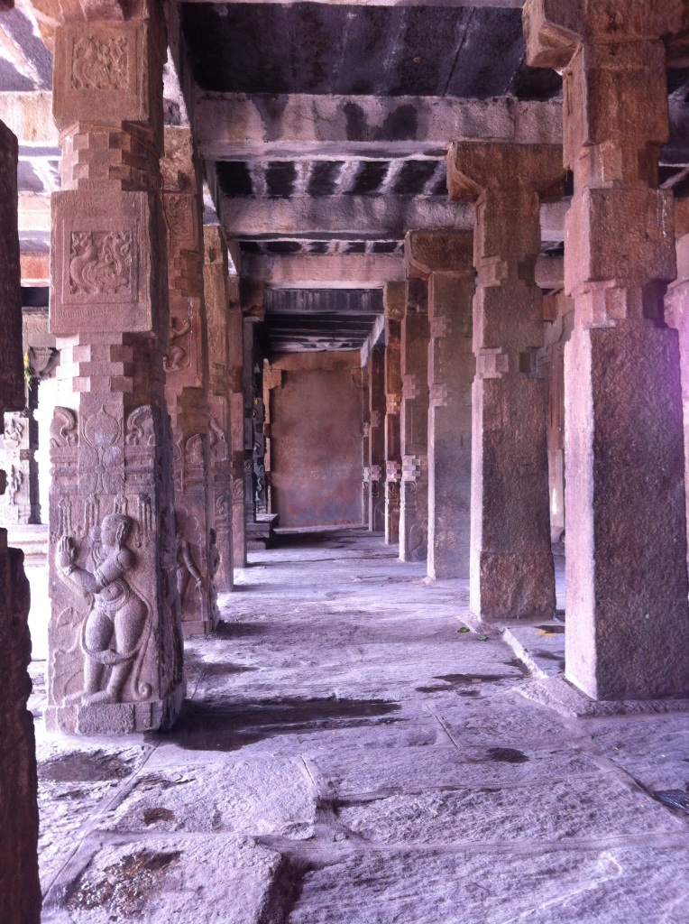 Pillars at Melukote Temple